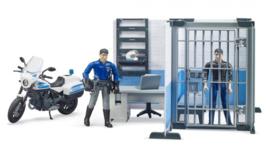 Bruder 62732 - BWorld Politiebureau met politiemotor