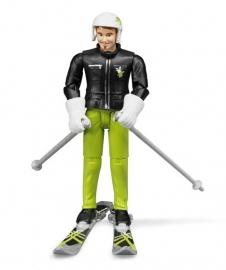 Bruder 60040 - Bworld skiër met accessoires