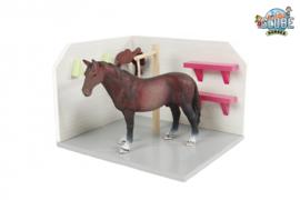 Kids Globe 610205 - Paarden wasbox roze excl. accessoires  (1:24)