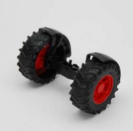 Bruder 43046 - Vooras rood t.b.v. tractoren 3000 serie