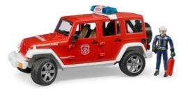 Bruder 2528 - Jeep Wrangler Unlimited Rubicon Brandweer incl. speelfiguur