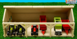 Kids Globe 610491 - Tractorloods voor 6 tractoren (1:87)