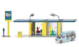 Siku 5509 - Siku World Bushalte inclusief schoolbus