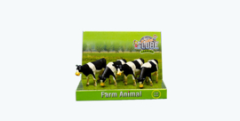 Kids Globe 571967 - 4 koeien staand zwartbont (1:50 )