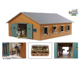 Kids Globe 610595 - Paardenstal met 7 boxen (1:24)