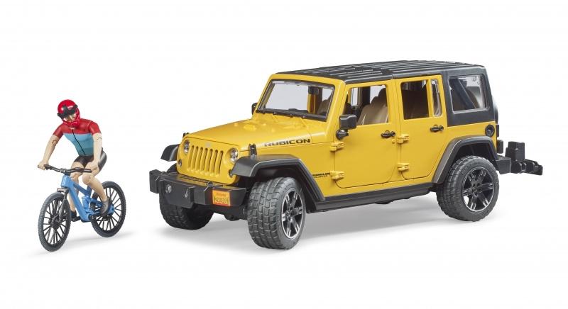 Bruder 2543 - Jeep Wrangler Unlimited Rubicon met mountainbike en speelfiguur