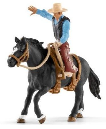 Schleich 41416 - Western cowboy in het zadel