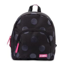 Zebra rugzak - Glitter Dots black