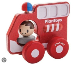 PlanToys houten brandweerauto