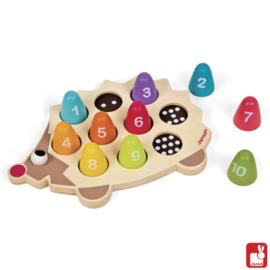 Janod egel cijfers houten spel
