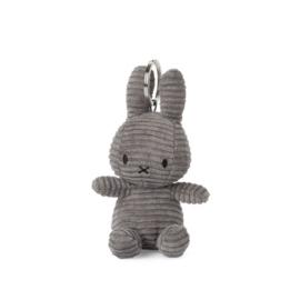 Nijntje sleutelhanger corduroy 10cm | Donker grijs