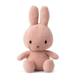 Nijntje knuffel corduroy 33cm | Licht roze