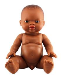 Minikane Doll Boy donkere ogen | African