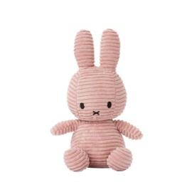 Nijntje knuffel corduroy 24cm | Licht roze