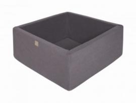 Meow ballenbad - vierkant donker grijs
