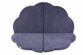 Meow - Speelmat wolkvorm - Grijs/Blauw