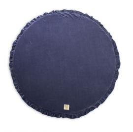 Meow  speelmat rond - blauw/grijs