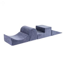 Meow Baby - foam blokken hindernisbaan - Grijs/Blauw