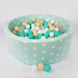 Meow ballenbad  - mint met sterren