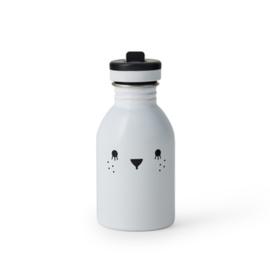 Noodoll - drinkfles Ricecube - Wit