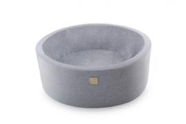 Meow ballenbad  - velours licht grijs