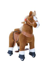 Ponycycle - Bruin paardje met witte hoefjes