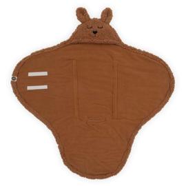 Jollein- Wikkeldeken Bunny caramel