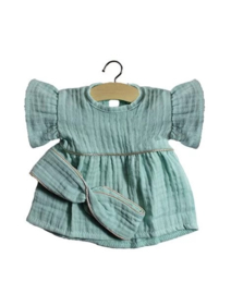 Minikane Doll jurkje + haarband | Licht Groen