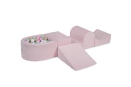 Meow Baby foam blokken met ballenbadje roze
