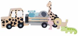 JaBaDaBaDo - Houten Jeep Safari met dieren