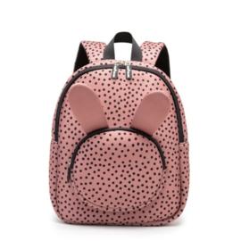 Van Pauline - rugzak Bunny Warm Pink Dots