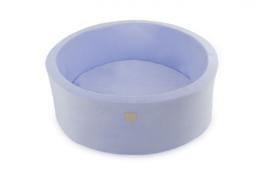 Meow ballenbad  - velours licht blauw