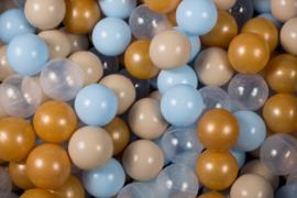 Meow ballen set 200 stuks - Gold, Babyblue, Beige, Transparant