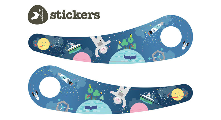 Wishbone - Space stickers