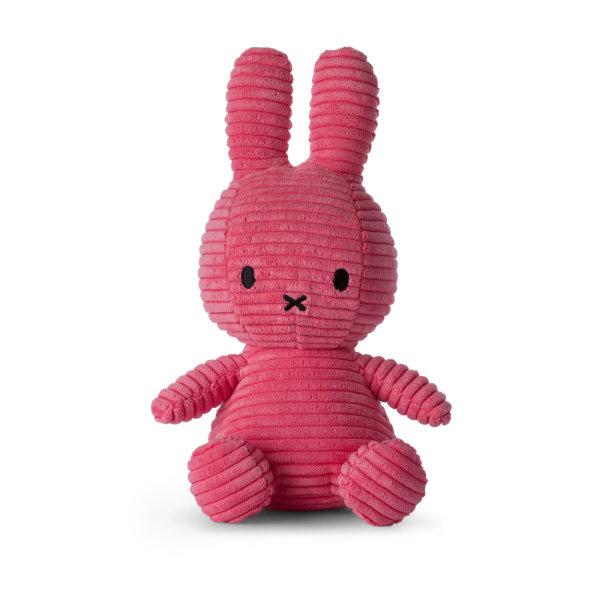 Nijntje knuffel corduroy 24cm | Donker roze