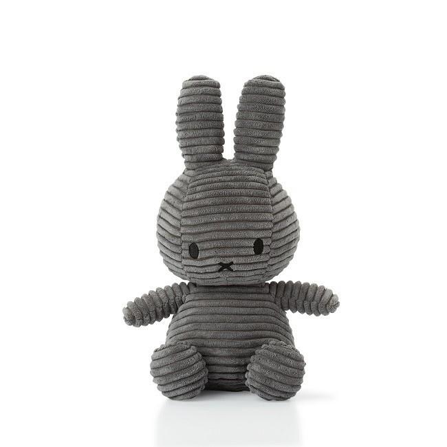 Nijntje knuffel corduroy 24cm | Donker grijs