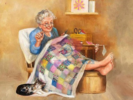 Diamond painting lekker chillen (60x45cm)(full)