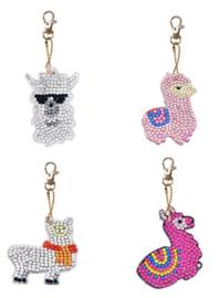 Diamond painting sleutelhangers alpaca (full)