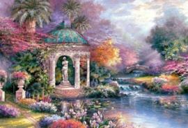 Diamond painting prachtig landschap (80x60cm)(full)