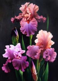 Diamond painting bos bloemen (50x40cm)(full)