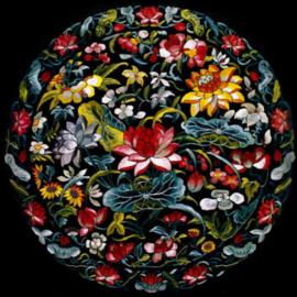 Diamond painting bloemen bol (50x50cm)(full)