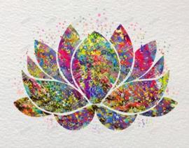 Diamond painting prachtige lotus (50x40cm)(full)