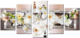Diamond painting bloemen (5 luik) (2x20x30cm)(2x20x40cm)(1x20x50cm)
