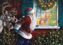 Diamond painting kerstman (60x40cm)