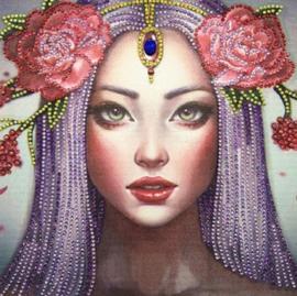 Diamond Painting meisje (25x25cm)