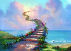 Diamond painting way to heaven (80x60cm)(full)