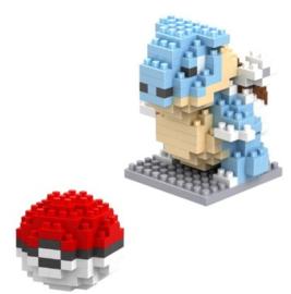 Diamond blocks Squirtle met pokéball (+/- 150 blokjes)