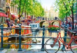 Diamond painting Amsterdamse gracht