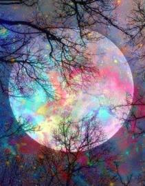 Diamond painting full moon (50x40cm)(full)