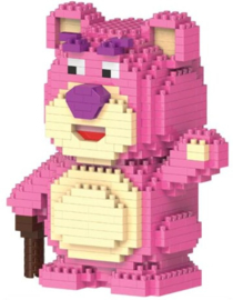 Diamond blocks roze beertje (+/- 500 blokjes)